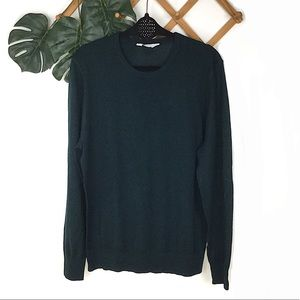 Everlane Wool Green Knit Sweater Medium